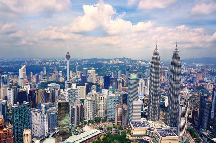 Menara Petronas Menara Kembar di Kuala Lumpur